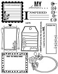 Prima Clear Stamps - Journaling Frames