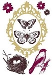 Prima Clear Stamp - Butterfly