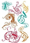 Prima Clear Stamp - Victorian Swirls