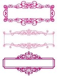 Prima Clear Stamp - Nameplates