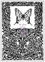 Prima - Tales of You & Me Collection - 3x4 Clear Stamp - butterfly
