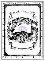 Prima - Vintage Emporium Collection - 3x4 Clear Stamp (book)