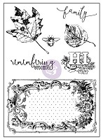 Prima - Vintage Emporium Collection - 3x4 Clear Stamp (leaves)