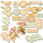 Prima - Songbird - Chipboard pieces