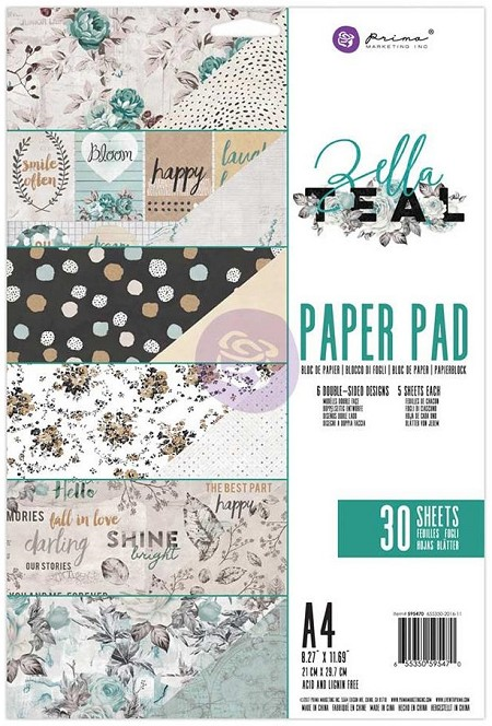 "Prima - Zella Teal Collection - A4 Collection Kit (8.5""x11"" Paper Pad)"