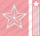 Cuttlebug Embossing Folder/Border Set - Star with Stripes and Border (A2 size)