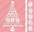 Cuttlebug Embossing Folder/Border Set - Christmas Stitches and Border (A2 size)