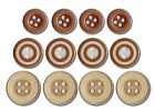 Queen & Co. - Buttons - Brown