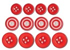 Queen & Co. - Buttons - Red