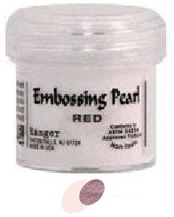 Ranger Embossing Pearls - Red Pearl (1 oz)