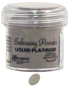Ranger Regular Embossing Powders - Liquid Platinum (1 oz)