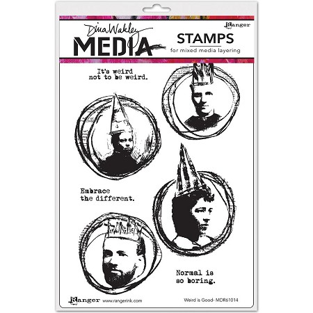 Stamper's Anonymous/Ranger - Dina Wakley Media - Cling Mounted Rubber Stamp Set - Weird Is Good