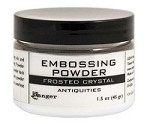 Ranger Embossing Powder - Frosted Crystal 1.5 oz (large jar)