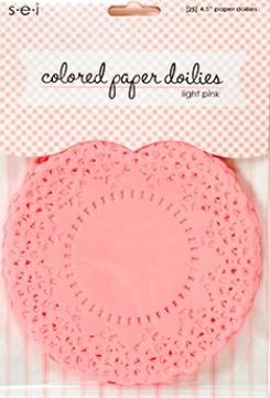 SEI - Colored Paper Doilies - Light Pink (25 pcs)