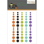 Simple Stories - Frankie and Friends Collection - Enamel Dots (60 pcs)