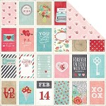 "Simple Stories - Hugs & Kisses Collection - 12""x12"" double side cardstock - Love Letter"