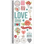 "Simple Stories - Hugs & Kisses Collection - 6""x12"" sticker sheet - Fundamentals"