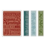 Sizzix Texture Fades by Tim Holtz - Christmas Background & Borders