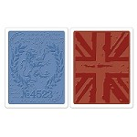 Sizzix - Textured Fades Embossing Folder by Tim Holtz - 2 Pack - London Icons & Union Jack