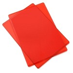 Sizzix Accessory - Replacement Cutting Mats (1 pair) CHERRY RED color