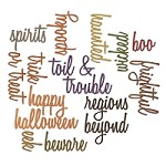 *PRE-ORDER* Sizzix - Thinlits Dies by Tim Holtz - 18pk Halloween Words Script