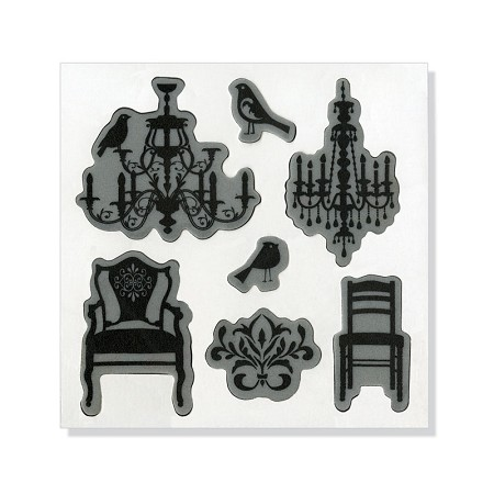 Sizzix-Hero Arts Die/Stamp Set-Chandeliers