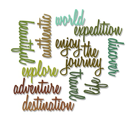 Sizzix - Thinlits Dies by Tim Holtz - 13PK Adventure Words: Script