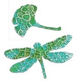 Sizzix Thinlits Dies - by Vintaj - 2 pack with Textrured Impressions - Asian Dragonfly