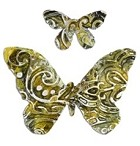 Sizzix Thinlits Dies - by Vintaj - 2 pack with Textrured Impressions - Henna Butterfly