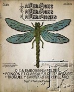 Sizzix Bigz Die with Texture Fades by Tim Holtz - Layered Dragonfly