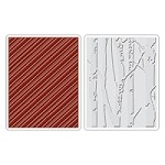 Sizzix - Texture Fades by Tim Holtz - 2 Pack - Birch Trees & Candy Stripes