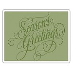 Sizzix - Texture Fades Embossing Folder by Tim Holtz - Season's Greetings