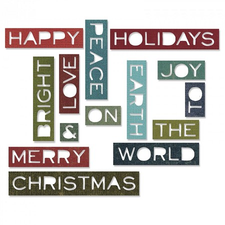 Sizzix - Thinlits Die Set by Tim Holtz - Holiday Words #2 Thin
