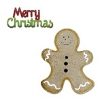 Sizzix - Bigz by Basic Grey - Nordic Gingerbread Man, Merry Christmas