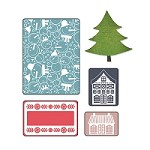 Sizzix - Textured Impressions by Basic Grey - Nordic Holiday, Snowmen