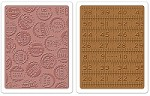 Sizzix - Textured Fades Embossing Folder by Tim Holtz - 2 Pack - Bottle Caps