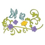 Sizzix Thinlits - Dies - by Jen Long-Philipsen - Butterflies & Flower Vinea