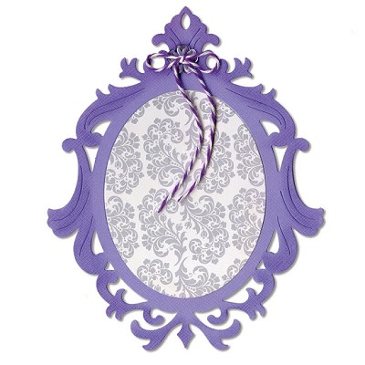 Sizzix Thinlits - Dies - by Jen Long-Philipsen - Frame, Ornate Oval