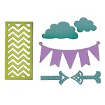 Sizzix Thinlits - Dies - by Rachael Bright - Arrows, Banners, Chevrons & Clouds