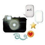 Sizzix Thinlits - Dies - by Rachael Bright - Retro Camera & Icons