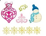 Sizzix Thinlits - Die Set- by Rachael Bright - 7 Pack - Christmas # 2