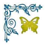 Sizzix Thinlits - Dies - by Rachael Bright - Corner Flourish & Butterfly