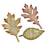Sizzix Bigz Die by Tim Holtz - Tattered Leaves