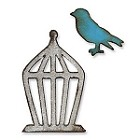 Sizzix Movers/Shapers by Tim Holtz Window Die - Bird/Cage