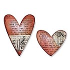 Sizzix Movers/Shapers by Tim Holtz Window Die Set - Mini Hearts