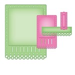 Spellbinders Nestabilities Card Creator die - A-2 Fancy Ribbon Threader