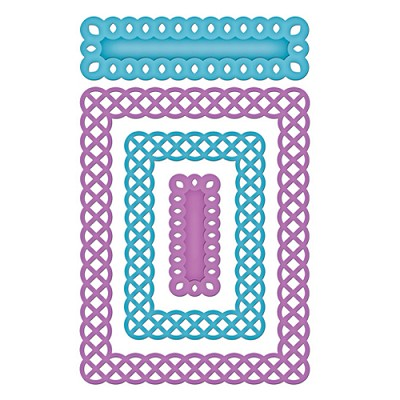 Spellbinders Nestabilities Card Creator die - A-2 Fancy Weave
