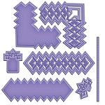 Spellbinders Shapeabilities Cut Fold Tuck die - Diamond Strips and Accents
