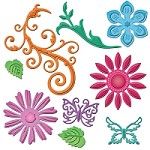 Spellbinders Shapeabilities die - Jewel Flowers and Flourishes