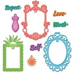 Spellbinders Shapeabilities die - Jewel Framed Sentiments